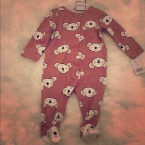 NWT Carter's Footed Sleeper with Pink Koalas 🐨